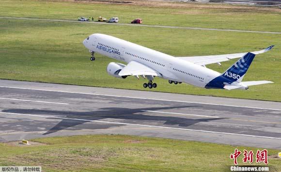空客a350xwb宽体飞机首飞