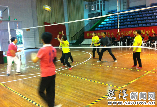 附海镇举办第八届老年气排球邀请赛--慈溪新南安市郭前小学图片