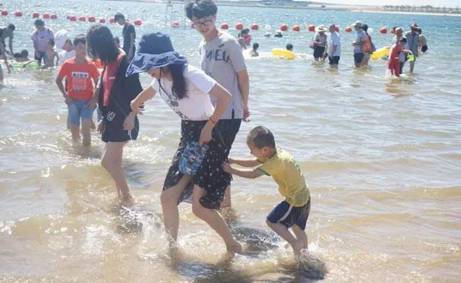 宁波万人沙滩开放了!现场人人人人人!