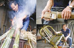 慈城73岁老艺人坚守拗竹椅这门老手艺