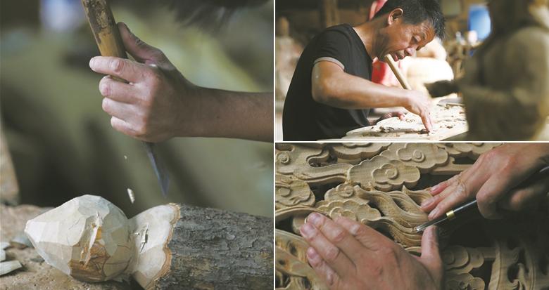 大隐木雕 源自河姆渡文化的非遗技艺